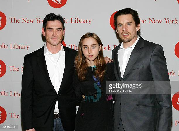 Actor Billy Crudup Zoe Kazan and Ethan Hawke attend the 2009 Young Lions Fiction Awards at the Celeste Bartos Forum at The New York Public Library on...