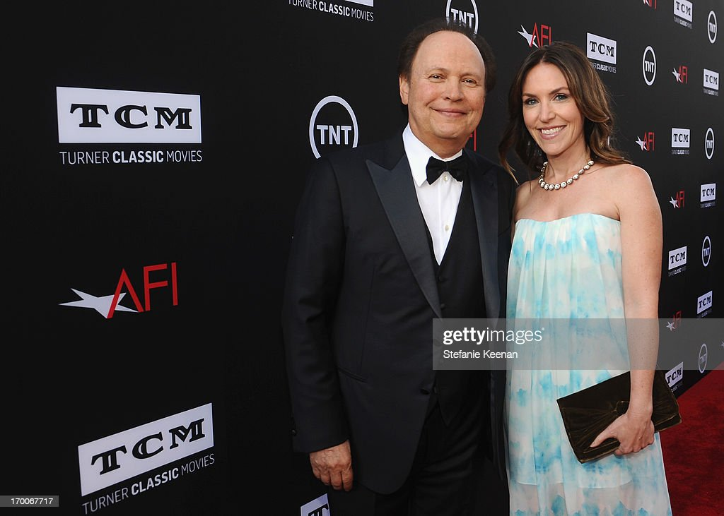 Actor <a gi-track='captionPersonalityLinkClicked' href=/galleries/search?phrase=Billy+Crystal&family=editorial&specificpeople=202497 ng-click='$event.stopPropagation()'>Billy Crystal</a> (L) and Jenny Crystal attend AFI's 41st Life Achievement Award Tribute to Mel Brooks at Dolby Theatre on June 6, 2013 in Hollywood, California. 23647_003_SK_0308.JPG