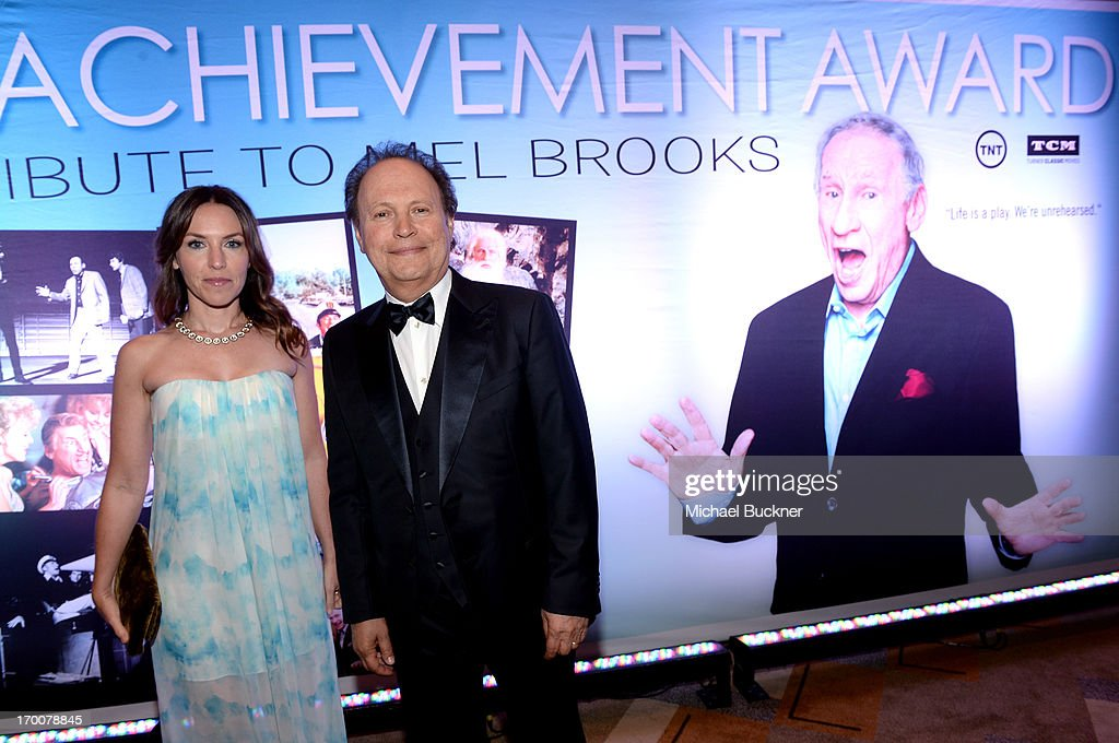 Actor <a gi-track='captionPersonalityLinkClicked' href=/galleries/search?phrase=Billy+Crystal&family=editorial&specificpeople=202497 ng-click='$event.stopPropagation()'>Billy Crystal</a> (R) and Jenny Crystal attend AFI's 41st Life Achievement Award Tribute to Mel Brooks at Dolby Theatre on June 6, 2013 in Hollywood, California. 23647_002_MB_0779.JPG