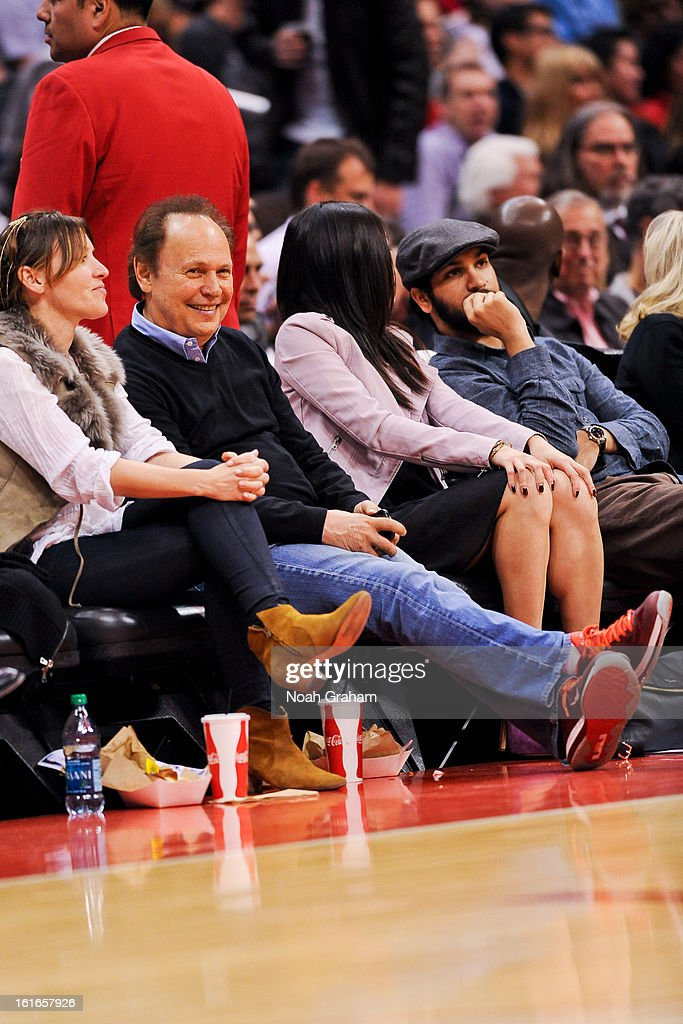 Actor Billy Crystal attends a game between the Houston Rockets and Los Angeles Clippers at Staples Center on February 13, 2013 in Los Angeles, California.