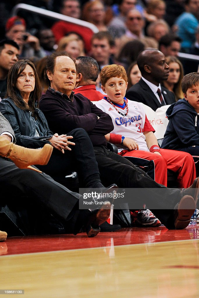 Actor Billy Crystal attends a game between the Sacramento Kings and Los Angeles Clippers at Staples Center on December 21, 2012 in Los Angeles, California.