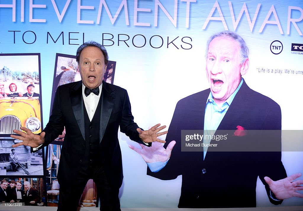Actor <a gi-track='captionPersonalityLinkClicked' href=/galleries/search?phrase=Billy+Crystal&family=editorial&specificpeople=202497 ng-click='$event.stopPropagation()'>Billy Crystal</a> attends AFI's 41st Life Achievement Award Tribute to Mel Brooks at Dolby Theatre on June 6, 2013 in Hollywood, California. 23647_002_MB_0783.JPG