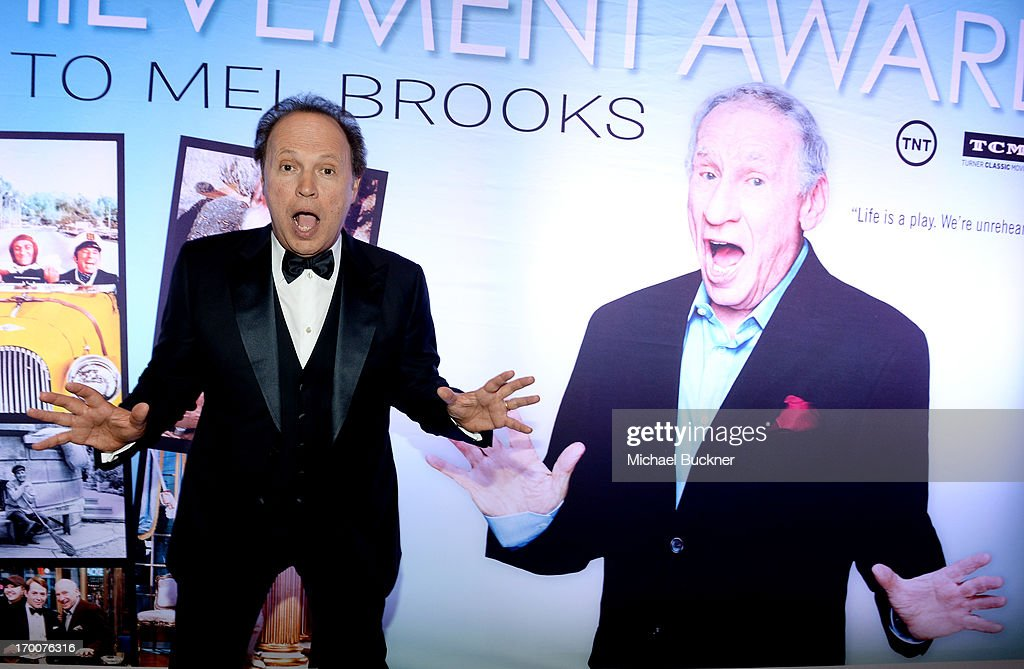 Actor <a gi-track='captionPersonalityLinkClicked' href=/galleries/search?phrase=Billy+Crystal&family=editorial&specificpeople=202497 ng-click='$event.stopPropagation()'>Billy Crystal</a> attends AFI's 41st Life Achievement Award Tribute to Mel Brooks at Dolby Theatre on June 6, 2013 in Hollywood, California. 23647_002_MB_0787.JPG