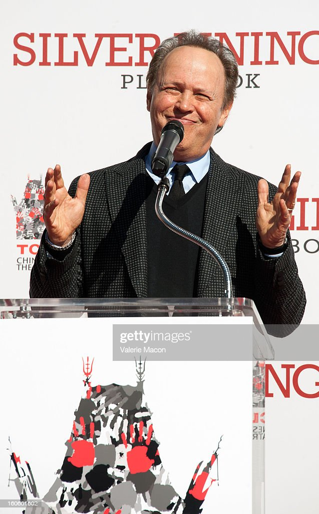 Actor <a gi-track='captionPersonalityLinkClicked' href=/galleries/search?phrase=Billy+Crystal&family=editorial&specificpeople=202497 ng-click='$event.stopPropagation()'>Billy Crystal</a> attends Robert De Niro Hand and Footprint Ceremony at TCL Chinese Theatre on February 4, 2013 in Hollywood, California.