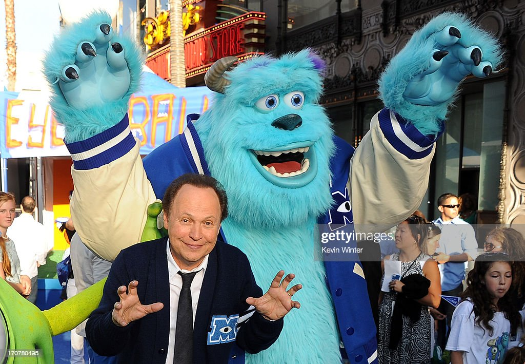 Actor <a gi-track='captionPersonalityLinkClicked' href=/galleries/search?phrase=Billy+Crystal&family=editorial&specificpeople=202497 ng-click='$event.stopPropagation()'>Billy Crystal</a> attends the world premiere of Disney Pixar's 'Monsters University' at the El Capitan Theatre on June 17, 2013 in Hollywood, California.