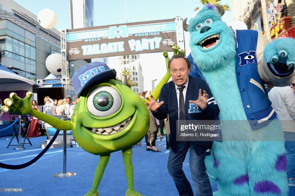 Actor Billy Crystal attends The World Premiere Tailgate Party for DisneyPixar's 'Monsters University' at the El Capitan Theatre on June 17 2013 in...