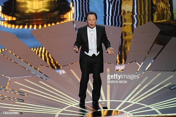 Actor Billy Crystal hosts the 84th Annual Academy Awards on February 26 2012 in Hollywood California AFP PHOTO Robyn BECK