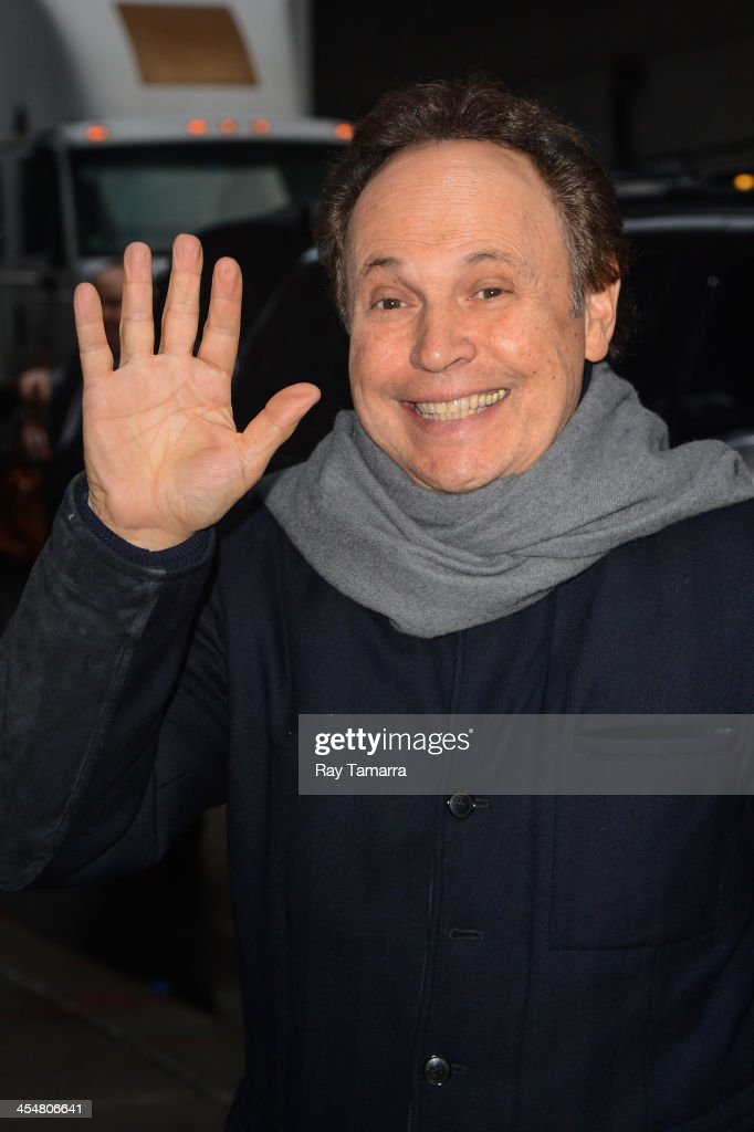 Actor <a gi-track='captionPersonalityLinkClicked' href=/galleries/search?phrase=Billy+Crystal&family=editorial&specificpeople=202497 ng-click='$event.stopPropagation()'>Billy Crystal</a> leaves the 'Late Show With David Letterman' taping at the Ed Sullivan Theater on December 10, 2013 in New York City.