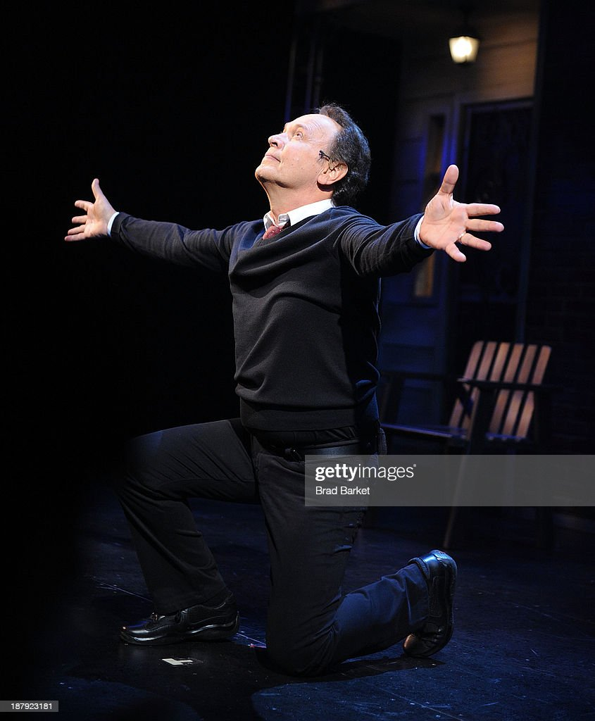 Actor <a gi-track='captionPersonalityLinkClicked' href=/galleries/search?phrase=Billy+Crystal&family=editorial&specificpeople=202497 ng-click='$event.stopPropagation()'>Billy Crystal</a> performs on stage during the curtain call of the <a gi-track='captionPersonalityLinkClicked' href=/galleries/search?phrase=Billy+Crystal&family=editorial&specificpeople=202497 ng-click='$event.stopPropagation()'>Billy Crystal</a>'s '700 Sundays' Broadway Opening Night at the Imperial Theatre on November 13, 2013 in New York City.