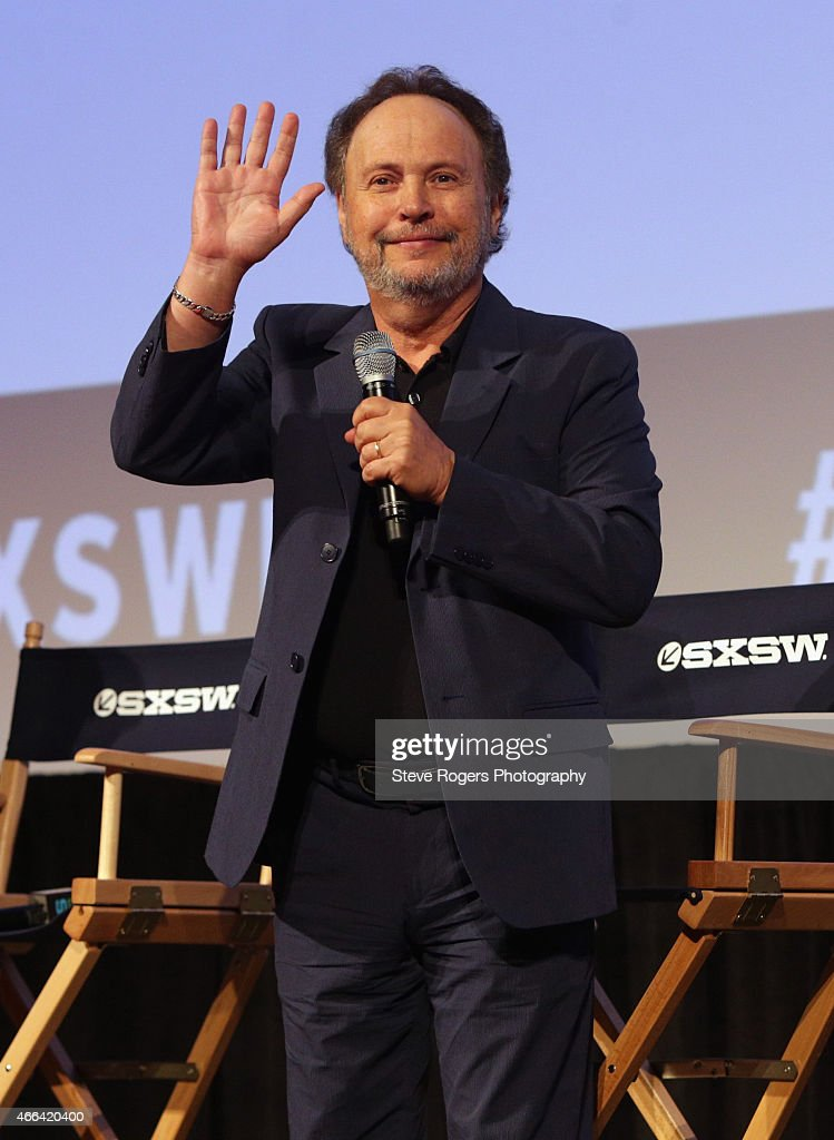 Actor <a gi-track='captionPersonalityLinkClicked' href=/galleries/search?phrase=Billy+Crystal&family=editorial&specificpeople=202497 ng-click='$event.stopPropagation()'>Billy Crystal</a> speaks onstage at the premiere of 'The Comedians' during the 2015 SXSW Music, Film + Interactive Festival at Austin Convention Center on March 15, 2015 in Austin, Texas.
