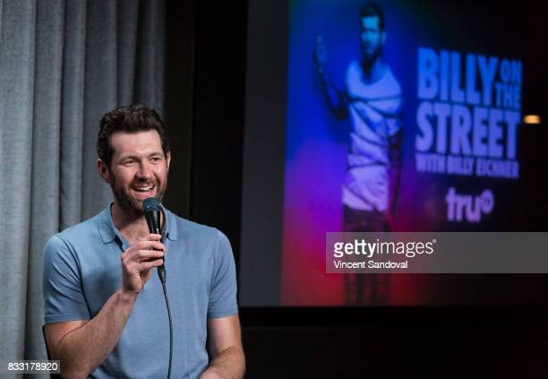 Actor Billy Eichner attends SAGAFTRA Foundation Conversations with 'Billy On The Street' at SAGAFTRA Foundation Screening Room on August 16 2017 in...