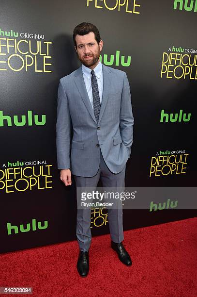 Actor Billy Eichner attends the Hulu Original Difficult People premiere at Metrograph on July 11 2016 in New York City