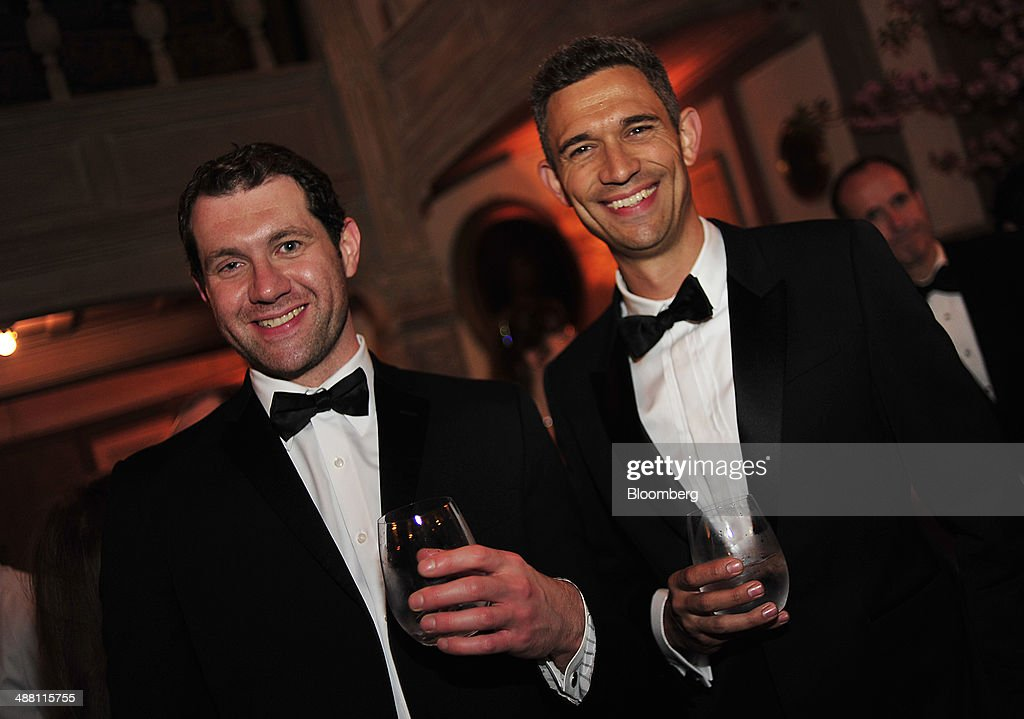 Actor <a gi-track='captionPersonalityLinkClicked' href=/galleries/search?phrase=Billy+Eichner&family=editorial&specificpeople=4821961 ng-click='$event.stopPropagation()'>Billy Eichner</a>, left, attends the Bloomberg Vanity Fair White House Correspondents' Association (WHCA) dinner afterparty in Washington, D.C., U.S., on Saturday, May 3, 2014. The WHCA, celebrating its 100th anniversary, raises money for scholarships and honors the recipients of the organization's journalism awards. Photographer: Pete Marovich/Bloomberg via Getty Images