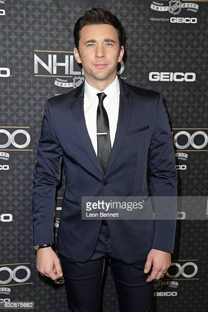 Actor Billy Flynn arrive at the NHL 100 presented by GEICO Red Carpet as part of the 2017 NHL AllStar Weekend at the Microsoft Theater on January 27...