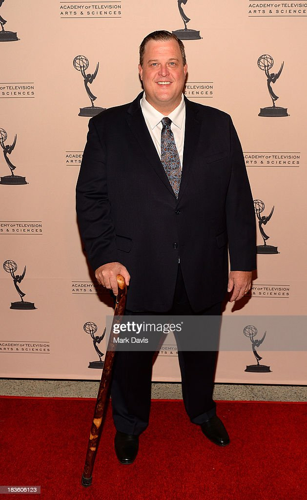 Actor <a gi-track='captionPersonalityLinkClicked' href=/galleries/search?phrase=Billy+Gardell&family=editorial&specificpeople=797590 ng-click='$event.stopPropagation()'>Billy Gardell</a> attends The Academy Of Television Arts & Sciences' Presents An Evening Honoring James Burrows held at the Academy of Television Arts & Sciences on October 7, 2013 in North Hollywood, California.