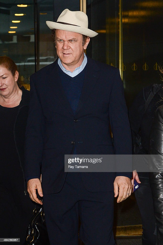 Actor Billy John C. Reilly leaves the 'Today Show' taping at the NBC Rockefeller Center Studios on April 11, 2014 in New York City.