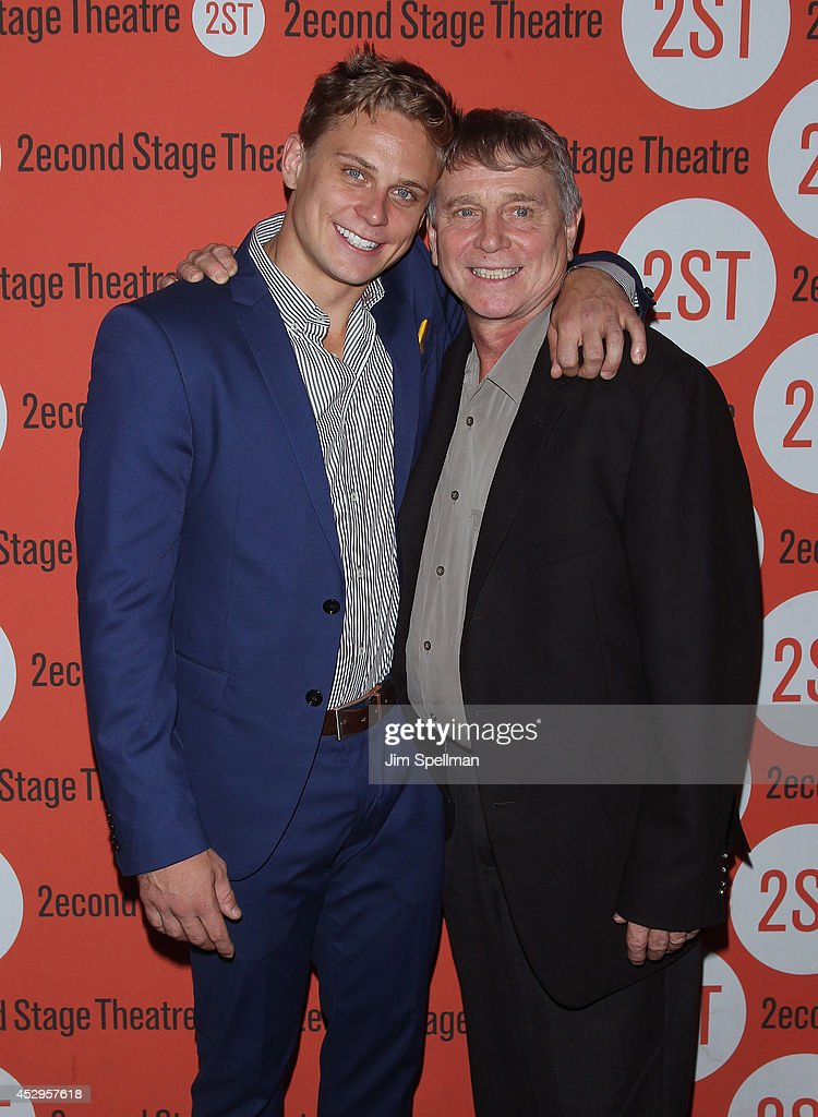 Actor <a gi-track='captionPersonalityLinkClicked' href=/galleries/search?phrase=Billy+Magnussen&family=editorial&specificpeople=5408596 ng-click='$event.stopPropagation()'>Billy Magnussen</a> and father Greg Magnussen attend the 'Sex With Strangers' Opening Night after party at Four at Yotel on July 30, 2014 in New York City.
