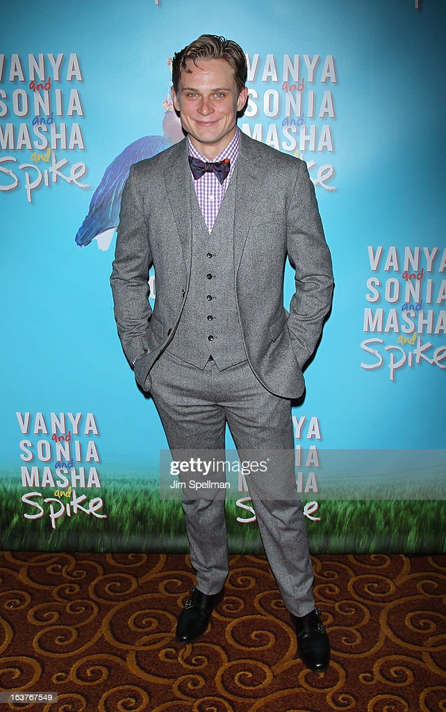 Actor <a gi-track='captionPersonalityLinkClicked' href=/galleries/search?phrase=Billy+Magnussen&family=editorial&specificpeople=5408596 ng-click='$event.stopPropagation()'>Billy Magnussen</a> attends the after party for 'Vanya And Sonia And Masha And Spike' Broadway opening night at Gotham Hall on March 14, 2013 in New York City.