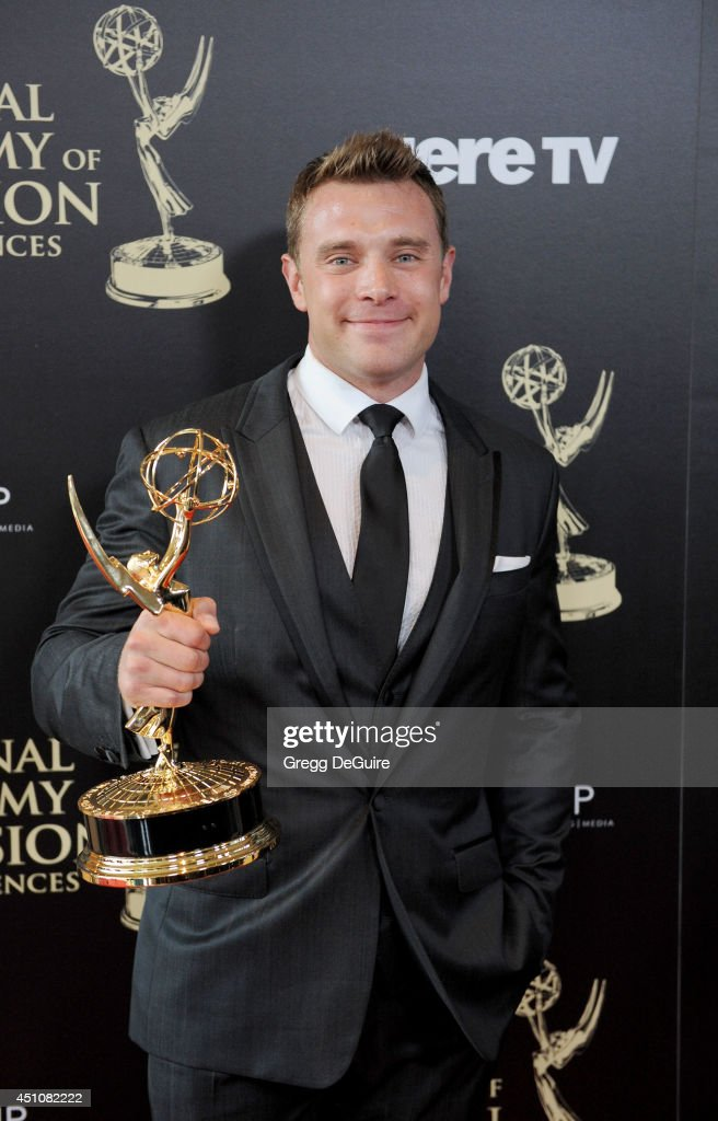 Actor <a gi-track='captionPersonalityLinkClicked' href=/galleries/search?phrase=Billy+Miller+-+Actor&family=editorial&specificpeople=12915047 ng-click='$event.stopPropagation()'>Billy Miller</a> poses in the press room at the 41st Annual Daytime Emmy Awards at The Beverly Hilton Hotel on June 22, 2014 in Beverly Hills, California.