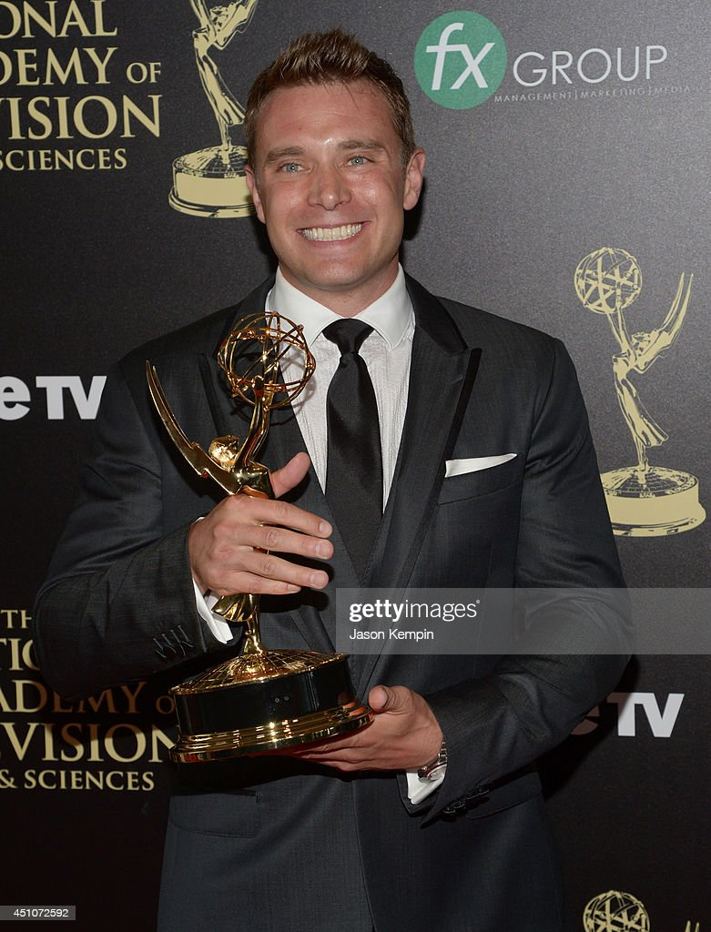 Actor <a gi-track='captionPersonalityLinkClicked' href=/galleries/search?phrase=Billy+Miller+-+Actor&family=editorial&specificpeople=12915047 ng-click='$event.stopPropagation()'>Billy Miller</a> poses in the press room with the Outstanding Lead Actor in a Drama Series award for 'The Young and the Restless' during The 41st Annual Daytime Emmy Awards at The Beverly Hilton Hotel on June 22, 2014 in Beverly Hills, California.