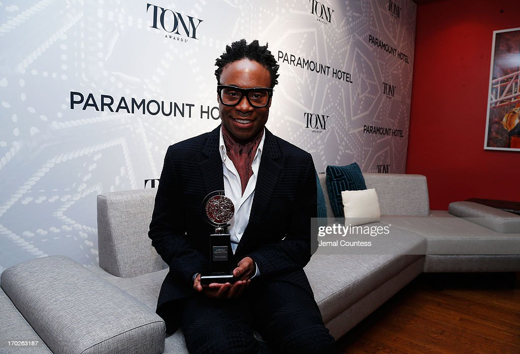 Actor Billy Porter, winner of Best Performance by an Actor in a Leading Role in a Musical poses at The 67th Annual Tony Awards Paramount Hotel Winners' Room at Radio City Music Hall on June 9, 2013 in New York City.