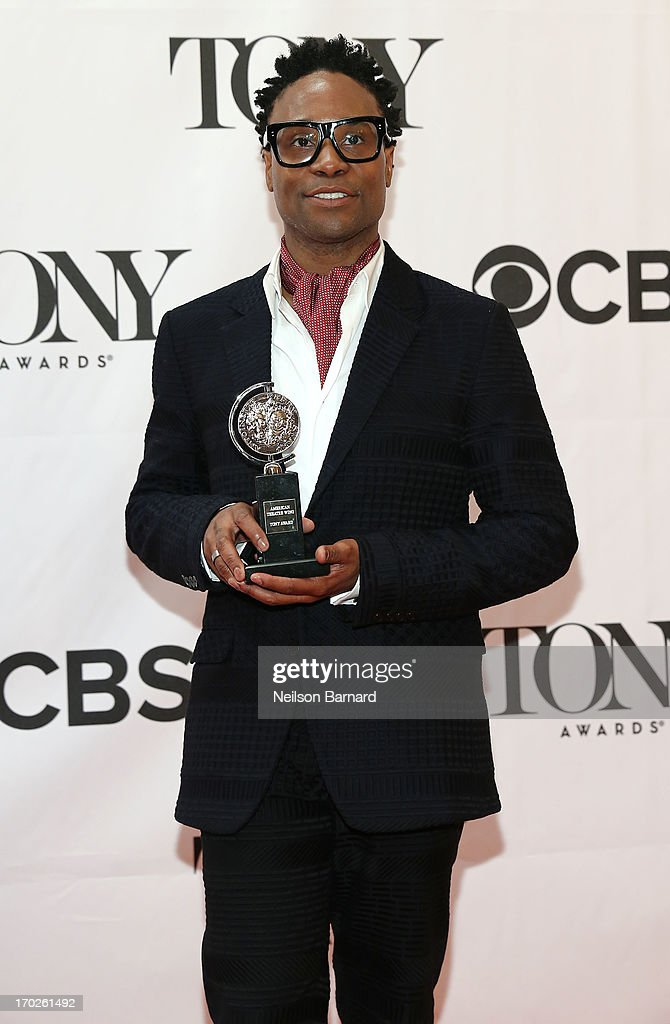 Actor Billy Porter, winner of the award for Best Performance by a Leading Actor in a Musical for 'Kinky Boots' poses in The 67th Annual Tony Awards at Radio City Music Hall on June 9, 2013 in New York City.