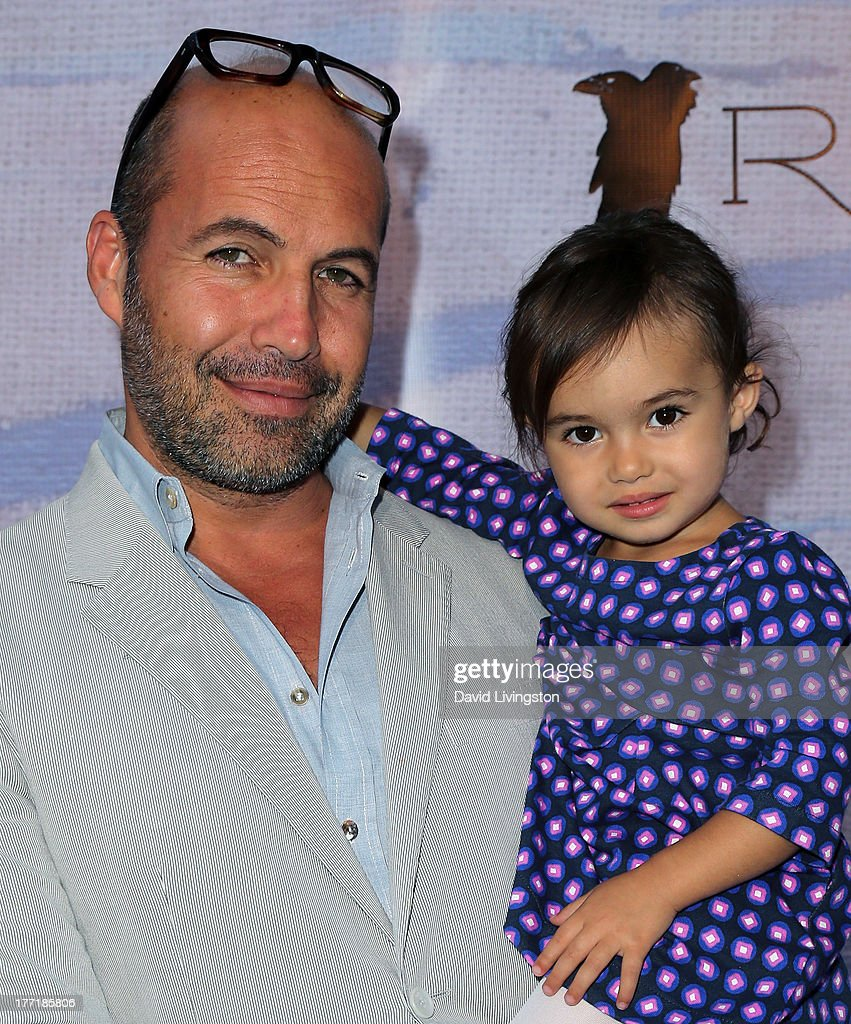 Actor Billy Zane (L) and daughter Ava Katherine Zane attend the opening night of Billy Zane's 'Seize The Day Bed' solo art exhibition at G+ Gulla Jonsdottir Design on August 21, 2013 in Los Angeles, California.
