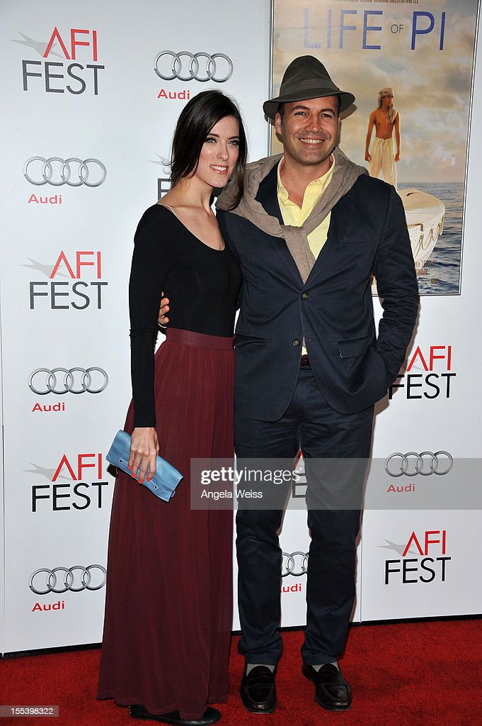 Actor <a gi-track='captionPersonalityLinkClicked' href=/galleries/search?phrase=Billy+Zane&family=editorial&specificpeople=211418 ng-click='$event.stopPropagation()'>Billy Zane</a> (R) and guest arrive at the 'Life Of Pi' premiere during 2012 AFI Fest 2012 presented by Audi at Grauman's Chinese Theatre on November 2, 2012 in Hollywood, California.