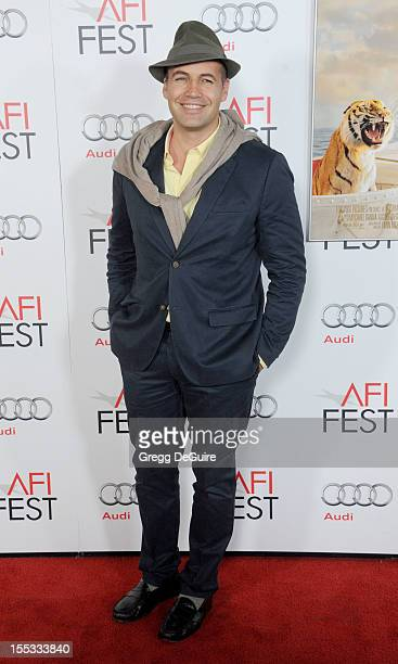 Actor Billy Zane arrives at the 2012 AFI FEST 'Life of Pi' 3D gala screening at Grauman's Chinese Theatre on November 2 2012 in Hollywood California