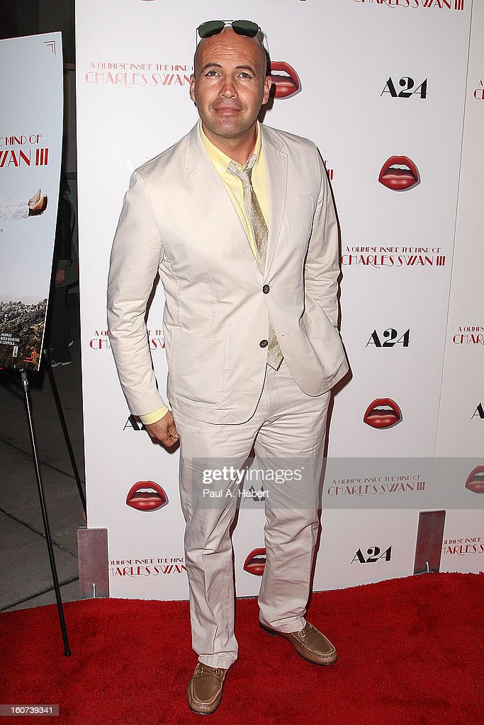 Actor Billy Zane arrives at the premiere of A24's 'A Glimpse Inside The Mind of Charles Swan III' held at the ArcLight Hollywood on February 4, 2013 in Hollywood, California.