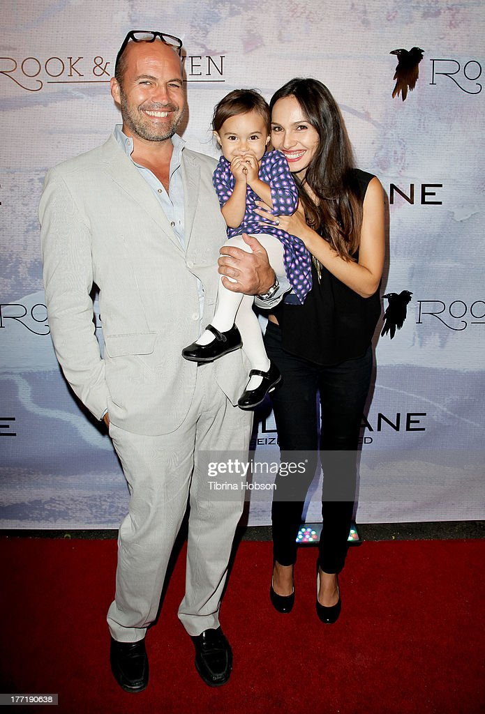 Actor Billy Zane, his daughter Eva Zane and model Candice Neil attend the artist's reception for Billy Zane's solo art exhibition 'Seize The Day Bed' on August 21, 2013 in Los Angeles, California.