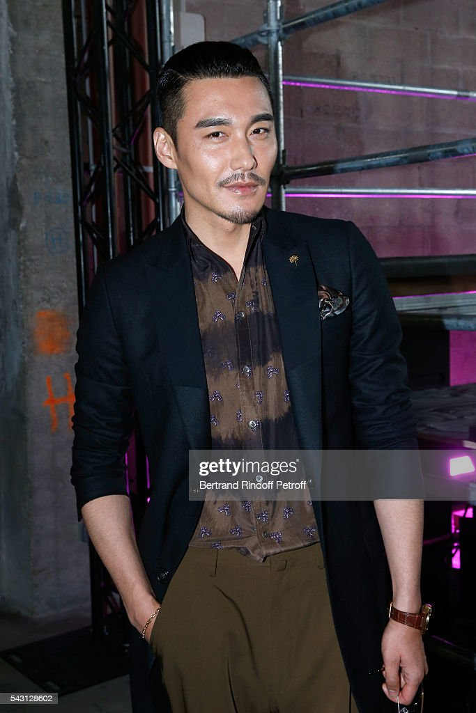 Actor Bing Hu attends the Lanvin Menswear Spring/Summer 2017 show as part of Paris Fashion Week on June 26, 2016 in Paris, France.