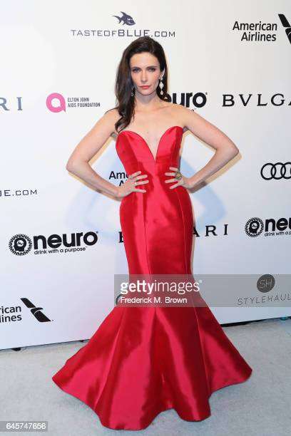 Actor Bitsie Tulloch attends the 25th Annual Elton John AIDS Foundation's Academy Awards Viewing Party at The City of West Hollywood Park on February...