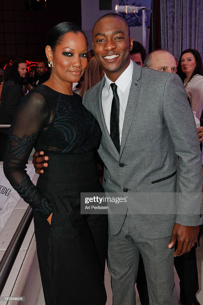 Actor B.J. Britt and Gracelle Beauvais attend Los Angeles Confidential Celebrates 10th Anniversary Presented By Merrill Lynch Wealth Management at SupperClub Los Angeles on December 1, 2012 in Los Angeles, California.