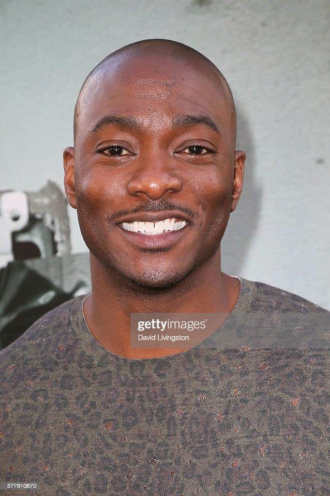 Actor BJ Britt arrives at the premiere of New Line Cinema's 'Lights Out' at the TCL Chinese Theatre on July 19 2016 in Hollywood California