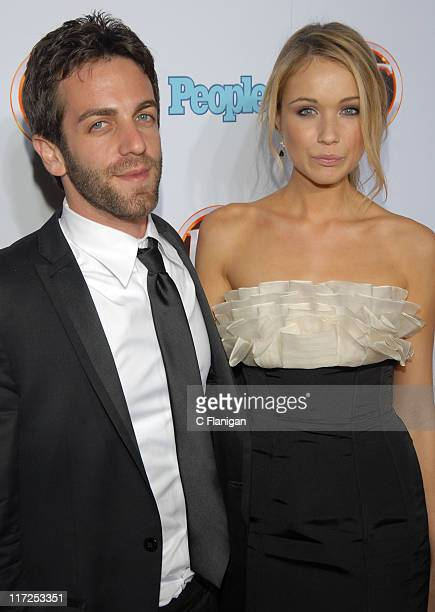 Actor BJ Novak and guest attend the Entertainment Tonight/People Magazine Emmy Party at the Walt Disney Concert Hall on September 16 2007 in Los...