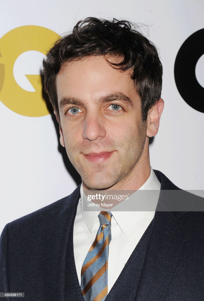 Actor <a gi-track='captionPersonalityLinkClicked' href=/galleries/search?phrase=B.J.+Novak&family=editorial&specificpeople=745545 ng-click='$event.stopPropagation()'>B.J. Novak</a> arrives at the 2013 GQ Men Of The Year Party at The Ebell of Los Angeles on November 12, 2013 in Los Angeles, California.