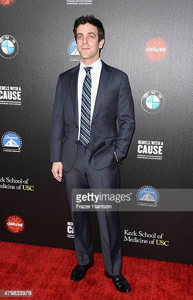 Actor BJ Novak arrives at the 2nd Annual Rebels With A Cause Gala at Paramount Studios on March 20 2014 in Hollywood California