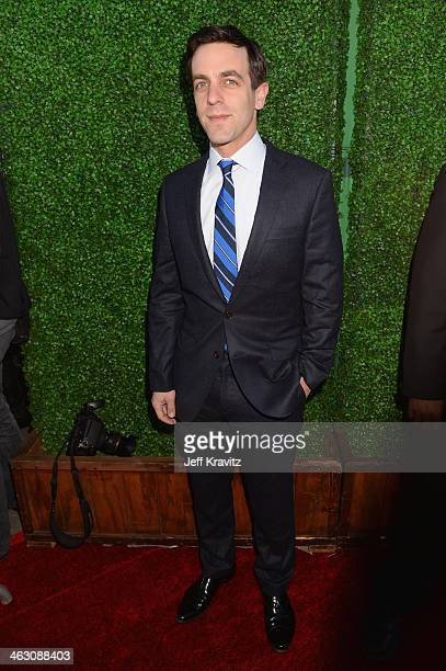 Actor BJ Novak attends the 19th Annual Critics' Choice Movie Awards at Barker Hangar on January 16 2014 in Santa Monica California