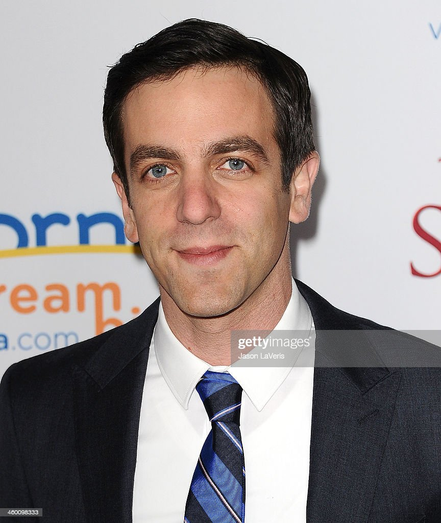 Actor <a gi-track='captionPersonalityLinkClicked' href=/galleries/search?phrase=B.J.+Novak&family=editorial&specificpeople=745545 ng-click='$event.stopPropagation()'>B.J. Novak</a> attends the premiere of 'Saving Mr. Banks' at Walt Disney Studios on December 9, 2013 in Burbank, California.
