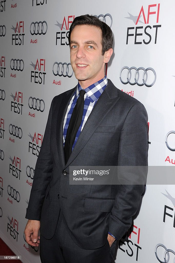 Actor <a gi-track='captionPersonalityLinkClicked' href=/galleries/search?phrase=B.J.+Novak&family=editorial&specificpeople=745545 ng-click='$event.stopPropagation()'>B.J. Novak</a> attends the premiere of Walt Disney Pictures' 'Saving Mr. Banks' during AFI FEST 2013 presented by Audi at TCL Chinese Theatre on November 7, 2013 in Hollywood, California.