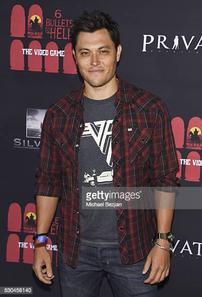Actor Blair Redford arrives at the '6 Bullets To Hell' Mobile Game Launch Party on May 10 2016 in Los Angeles California