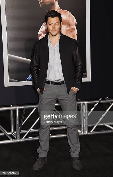 Actor Blair Redford arrives at the premiere of Warner Bros Pictures' 'Creed' at Regency Village Theatre on November 19 2015 in Westwood California...