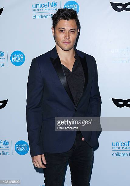 Actor Blair Redford attends the UNICEF Black White masquerade ball at The Masonic Lodge at Hollywood Forever on October 30 2015 in Los Angeles...