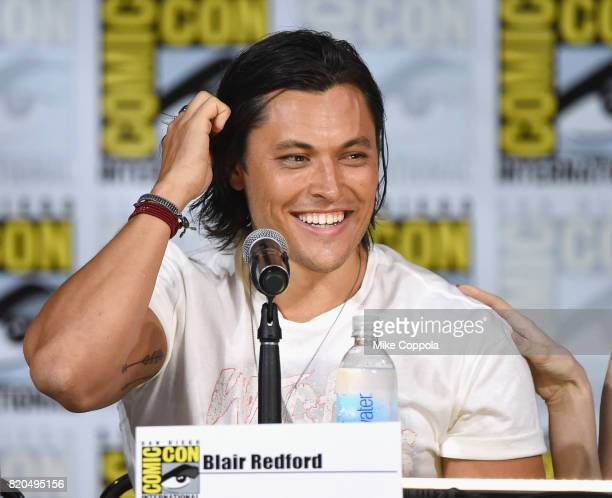 Actor Blair Redford speaks onstage at ComicCon International 2017 'The Gifted' Extended Sneak Peek at San Diego Convention Center on July 21 2017 in...