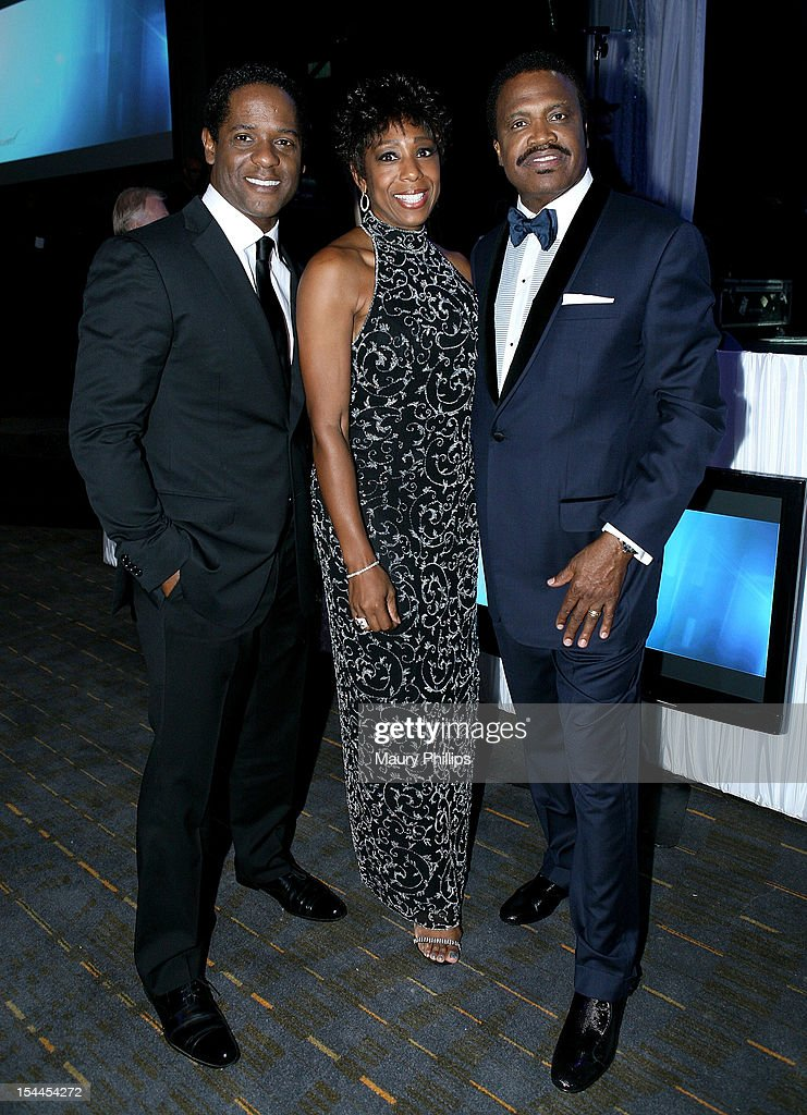 Actor <a gi-track='captionPersonalityLinkClicked' href=/galleries/search?phrase=Blair+Underwood&family=editorial&specificpeople=215367 ng-click='$event.stopPropagation()'>Blair Underwood</a>, actress Dawn Lewis and Bishop Kenneth C. Ulmer attend the Faithful Central Bible Church Event on October 19, 2012 in Century City, California.