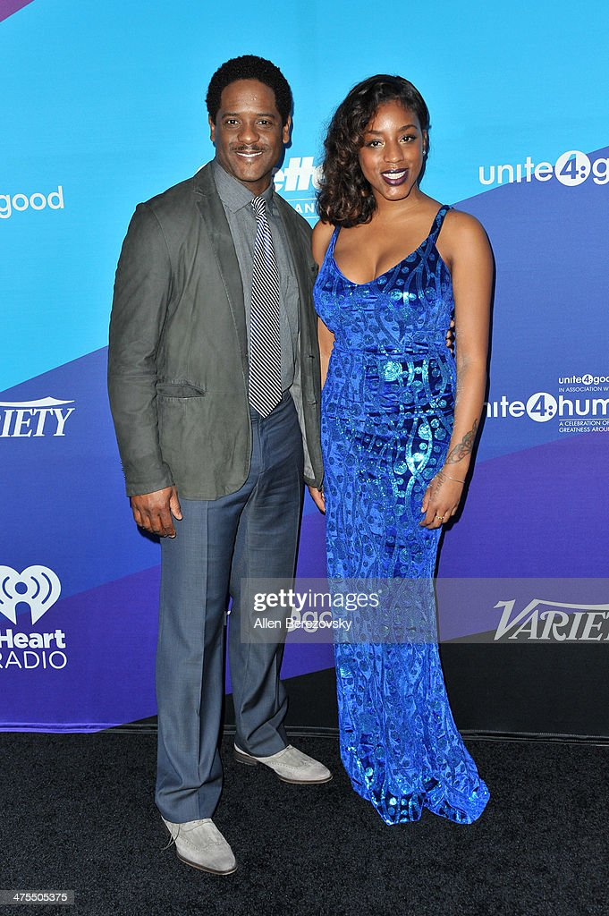 Actor Blair Underwood and a guest attend the 1st Annual Unite4:humanity Event hosted by Unite4good and Variety on February 27, 2014 in Los Angeles, California.