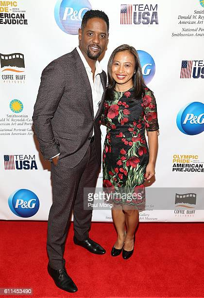 Actor Blair Underwood and Janet Fletcher Procter Gamble attend the Olympic Pride American Prejudice Film Screening 1936 Black Olympians Recognition...