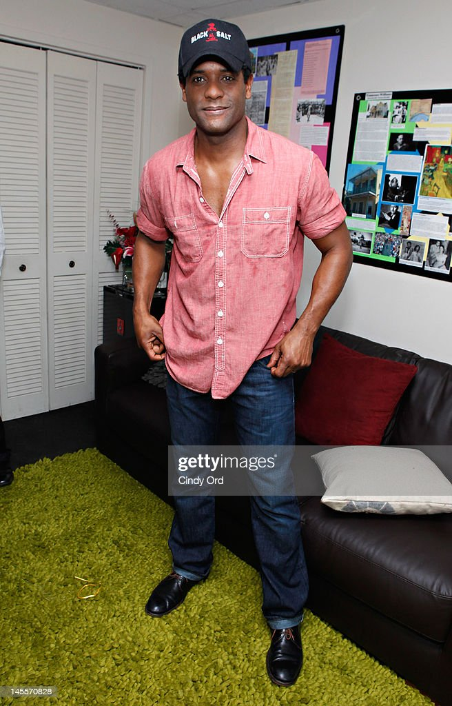 Actor <a gi-track='captionPersonalityLinkClicked' href=/galleries/search?phrase=Blair+Underwood&family=editorial&specificpeople=215367 ng-click='$event.stopPropagation()'>Blair Underwood</a> poses in his dressing room prior to performing in 'A Streetcar Named Desire' at The Broadhurst Theatre on June 1, 2012 in New York City.