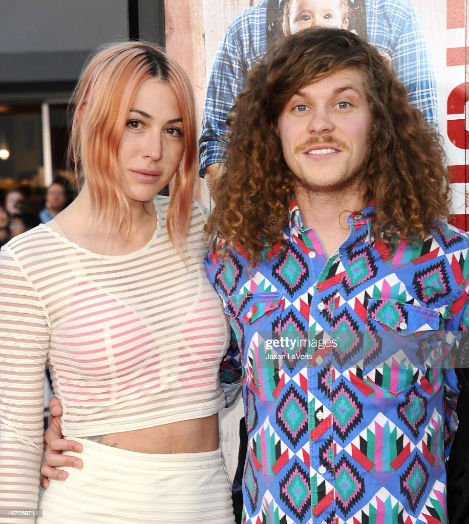 Actor <a gi-track='captionPersonalityLinkClicked' href=/galleries/search?phrase=Blake+Anderson+-+Comedian&family=editorial&specificpeople=7124992 ng-click='$event.stopPropagation()'>Blake Anderson</a> (R) and wife Rachael Finley attend the premiere of 'Neighbors' at Regency Village Theatre on April 28, 2014 in Westwood, California.